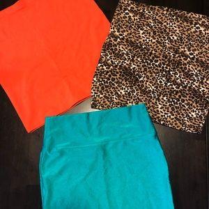 Bundle of 4 mini skirts